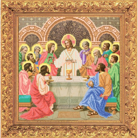 "Bead embroidery kit of icon ""Last Supper"""
