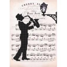 "Bead embroidery kit ""Romantic Saxophone"""
