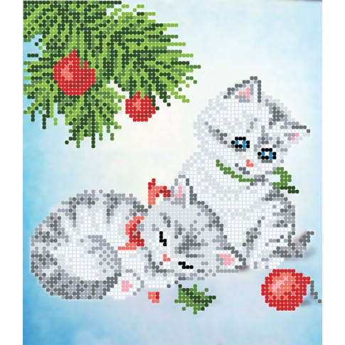 """Bead embroidery pattern """"Kittens"""""""