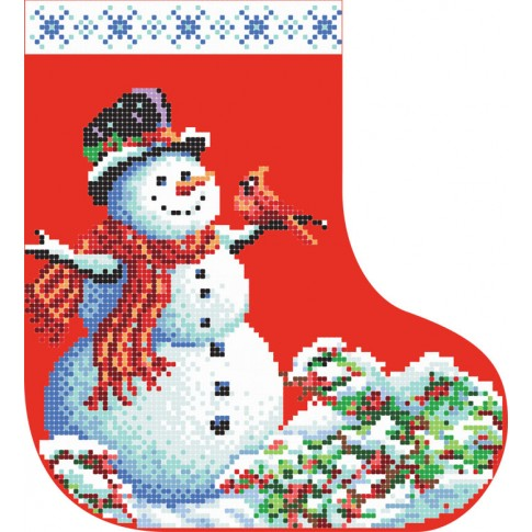 "Bead embroidery pattern ""Christmas boot 1"""