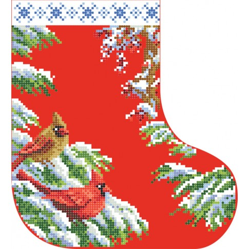 "Bead embroidery pattern ""Christmas boot 2"""
