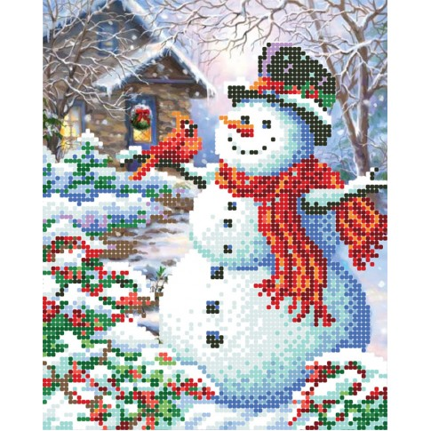 """Bead embroidery pattern """"Snow friends"""""""