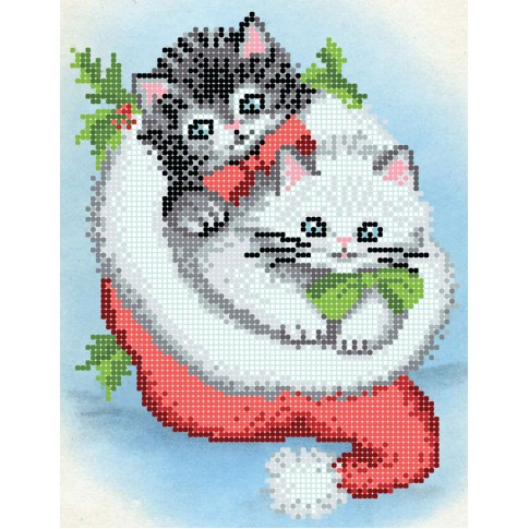 """Bead embroidery pattern """"Cheerful kittens"""""""