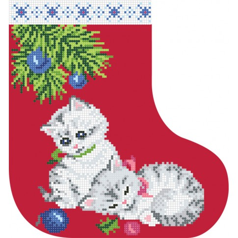 "Bead embroidery pattern ""Christmas boot 3"""