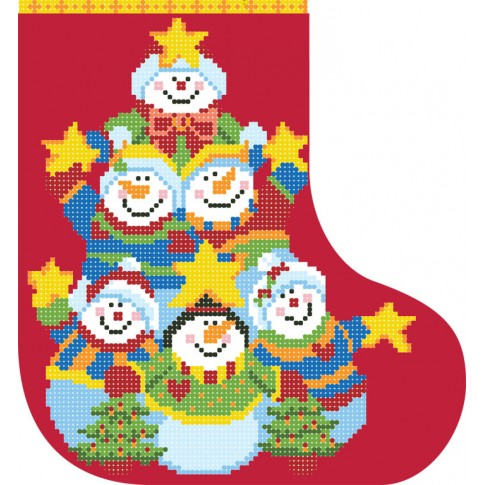 "Bead embroidery pattern ""Christmas boot 4"""