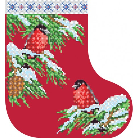 "Bead embroidery pattern ""Christmas boot 5"""