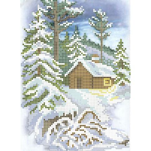 "Bead embroidery pattern ""Winter walk"""