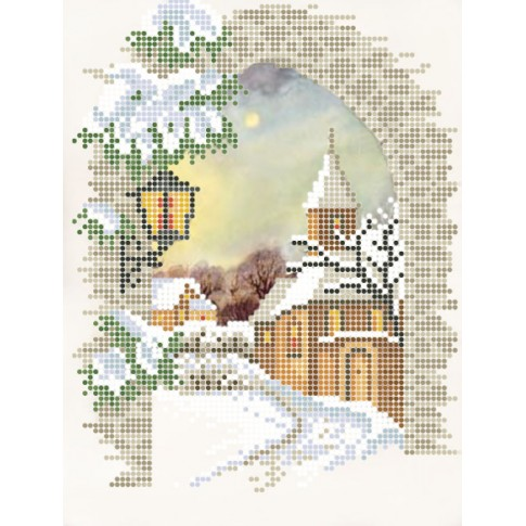 "Bead embroidery pattern ""Christmas Eve"""