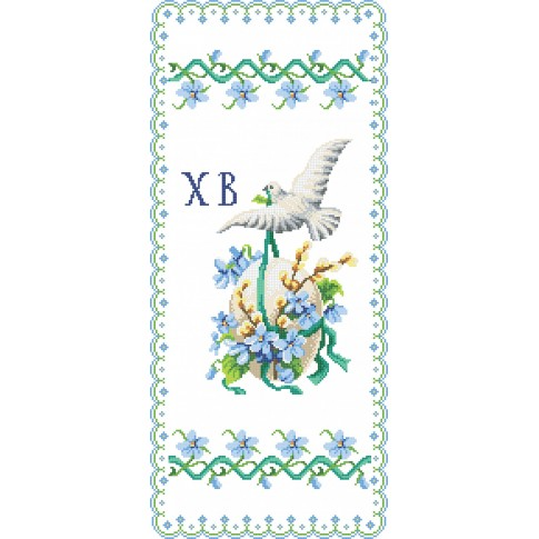 """Bead embroidery pattern of easter towel """"Easter Rushnyk 4"""""""