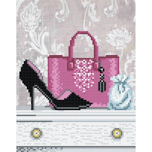 "Bead embroidery pattern ""Gift for fashionista"""