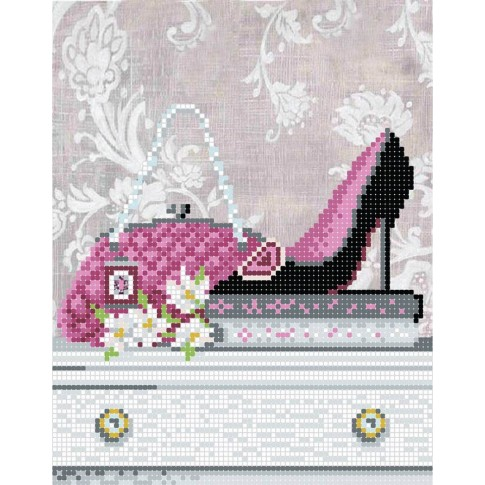 "Bead embroidery pattern ""Heels for fashionista"""