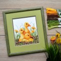 "Cross stitch kit ""Ducklings"""
