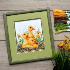 """""""Ducklings"""" - Cross stitch kit"""