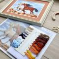 "Cross stitch kit ""Running horses"""
