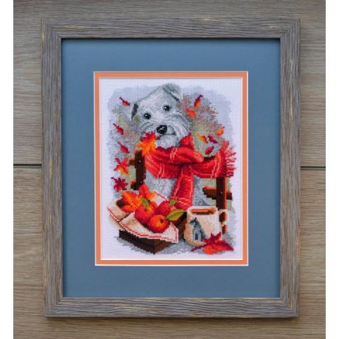 "Cross stitch kit ""White terrier"""