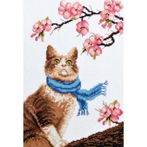 "Cross stitch kit ""Romantic cat"""