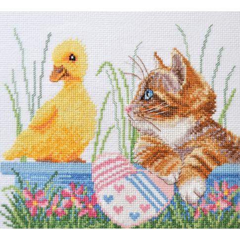 "Cross stitch kit ""Little friends"""