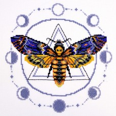 Deaths-head hawkmoth Counted Cross Stitch Kit
