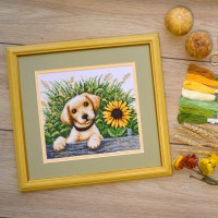 """Puppy in the grass"" - Сross stitch kit"