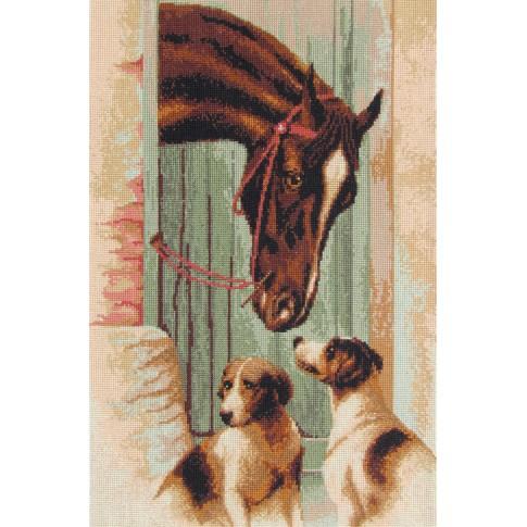 "Cross stitch kit ""Near the stables"""