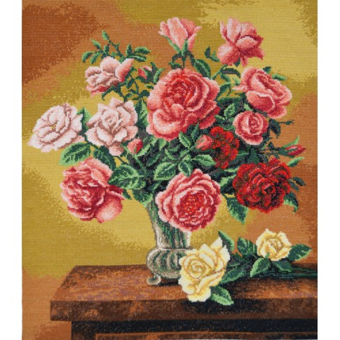 """Cross stitch kit """"Bouquet of roses"""""""