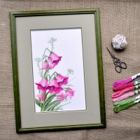 "Cross stitch kit ""Bellflowers"""