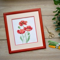 "Cross stitch kit ""Poppies"""