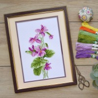"Cross stitch kit ""Violets"""