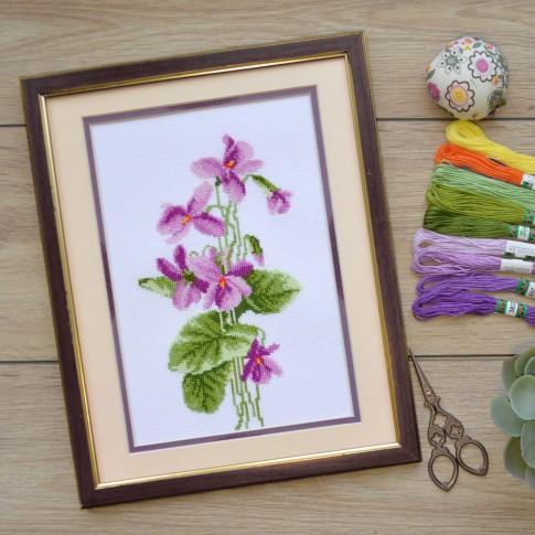 """Cross stitch kit """"Violets"""""""
