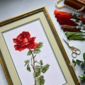 "Cross stitch kit ""Red rose"""