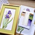 "Cross stitch kit ""Blue irises"""
