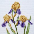 """Cross stitch kit """"Yellow irises"""""""