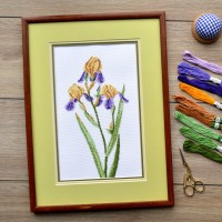"Cross stitch kit ""Yellow irises"""