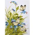 """Cross stitch kit """"Butterflies in flowers"""""""