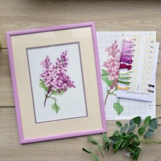 """Lilac"" - Cross stitch kit"