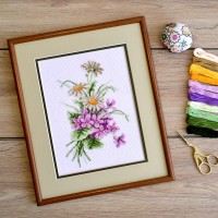 """Summer bouquet"" - Cross stitch kit"