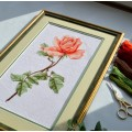 "Cross stitch kit ""Tea rose"""