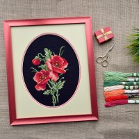 """Red bouquet"" - Cross stitch kit"