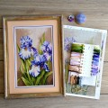 "Cross stitch kit ""Bouquet of irises"""