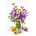 "Cross stitch kit ""Clematis"""