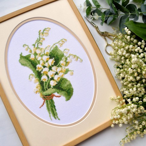 "Cross stitch kit ""Lily of the valley"""