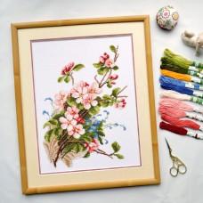 """Apple blossoms"" - Cross stitch kit"