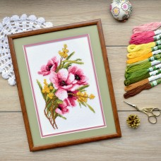 """Bouquet with mimosa"" - Сross stitch kit"