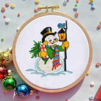 """""""Snowman"""" - Cross stitch kit"""