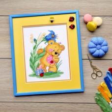 """""""Bear cub"""" - Cross stitch kit"""