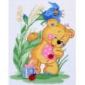 """Cross stitch kit """"Bear cub"""""""