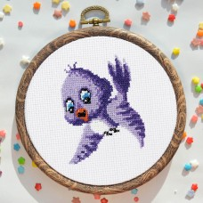 """Tufted titmouse"" - Cross stitch kit"