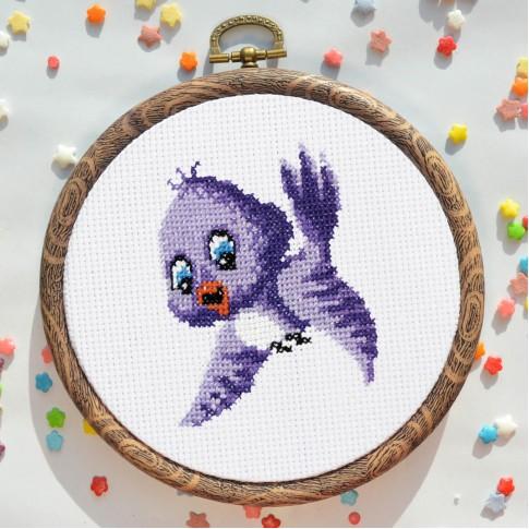 "Cross stitch kit ""Tufted titmouse"""