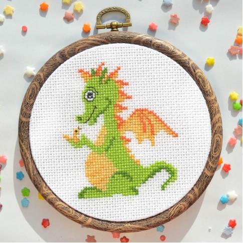 "Cross stitch kit ""Little dragon"""