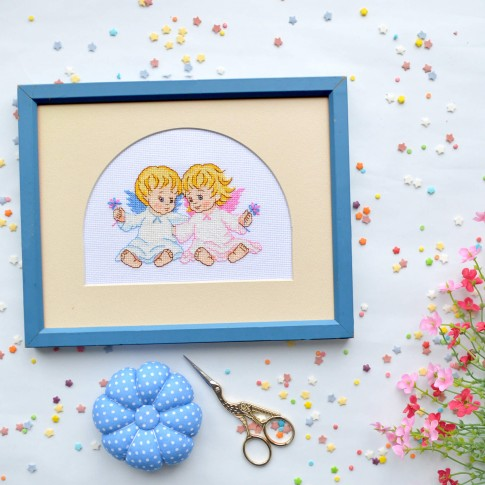 "Cross stitch kit ""Angels"""